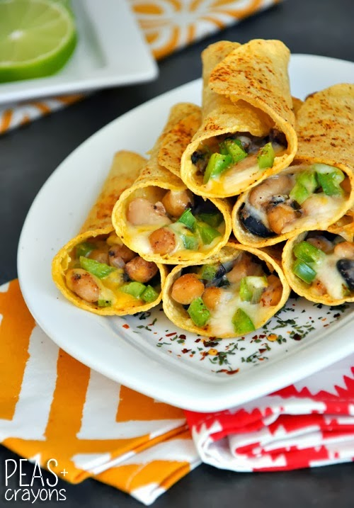 Easy Baked Flautas Peas And Crayons Vegetarian Recipes