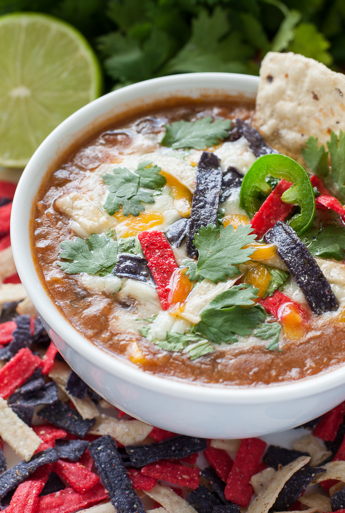 The recipe that launched 1000 requests :: This Slow Cooker Chicken Tortilla Soup is the best ever!