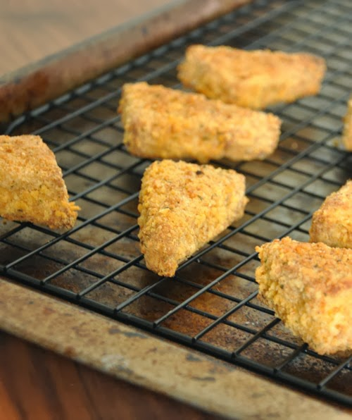 Baked Chicken Fried Tofu