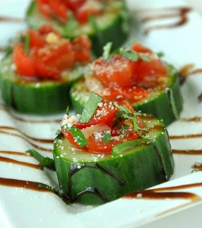 Cucumber Bruschetta