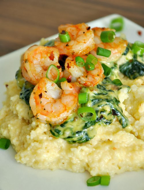 Shrimp and Grits a Ya Ya :: This homemade copycat of The Fish House's famous Grits a Ya Ya is AMAZING! Vegetarian & T-rex versions available
