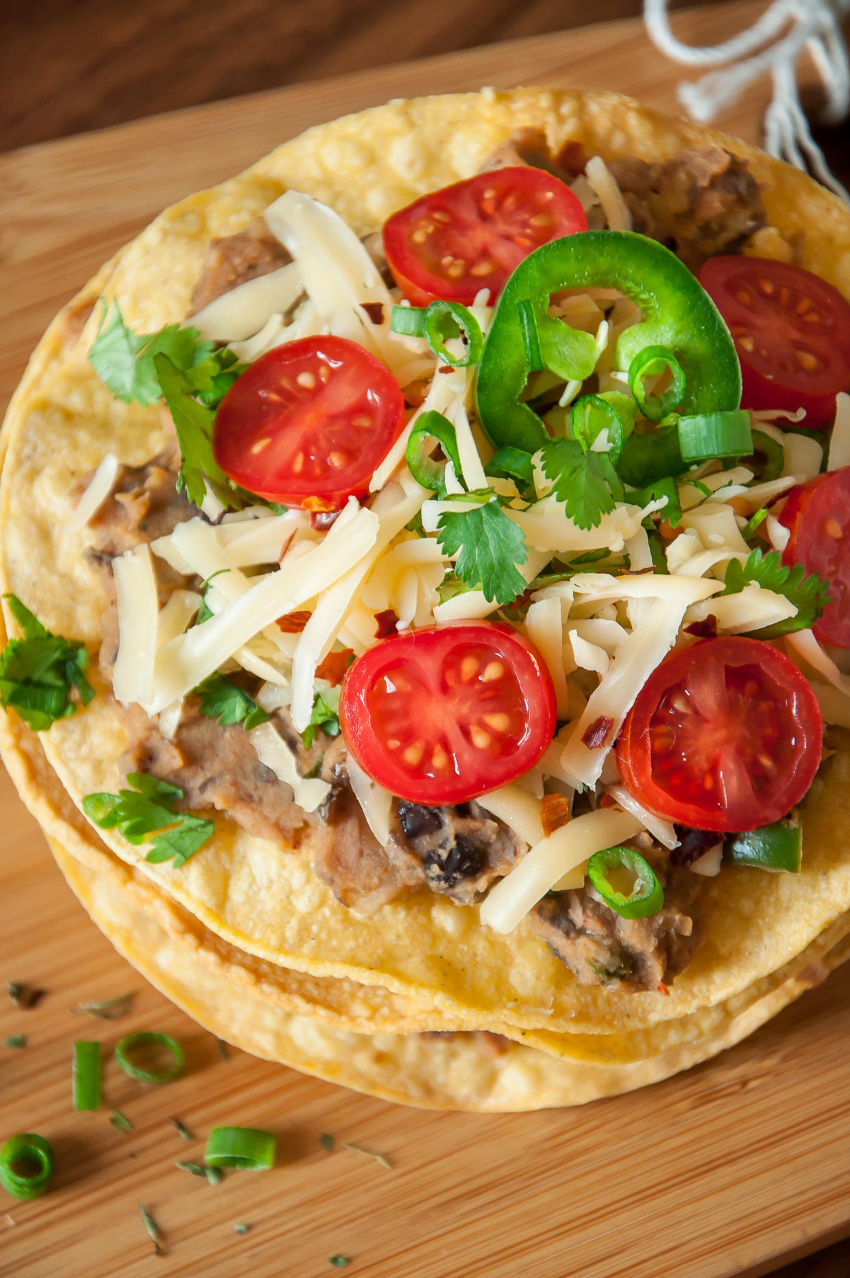 Vegetarian Mexican Pizza Tostadas