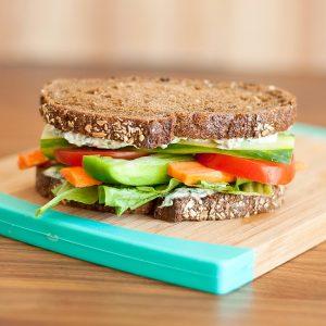 California Veggie Sandwich with Spinach Dip Spread