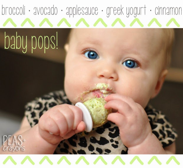 pint-sized frozen yogurt pops for tiny tummies // healthy + loaded with veggies!