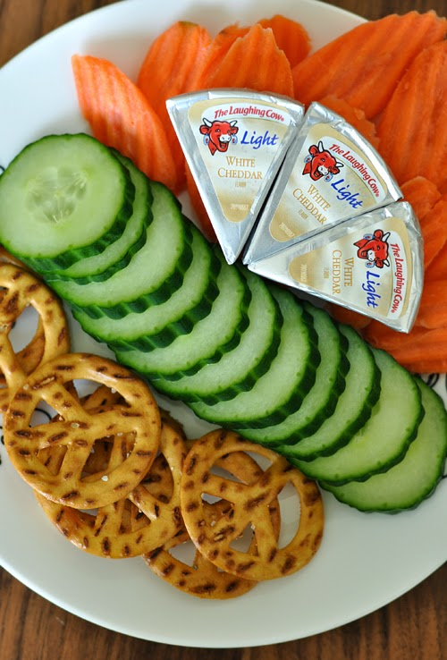 The Laughing Cow White Cheddar Snack Plate