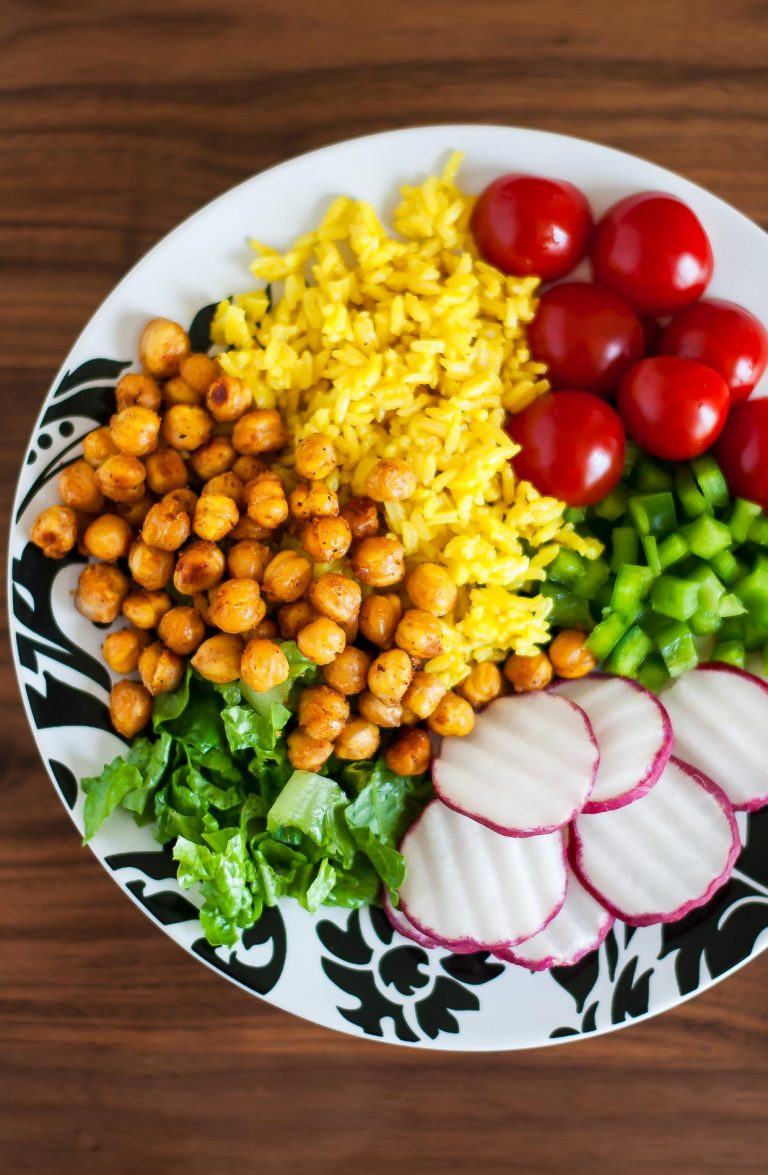 Roasted Chickpea Taco Salad Rice Bowls   Peas and Crayons