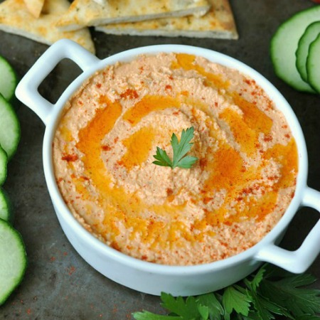 Roasted red pepper hummus for Roasted red pepper hummus recipes
