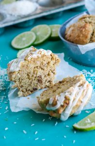 These bakery-style Coconut-Lime Avocado Muffins are moist, fluffy, flavorful, and pack enough muffin top to make your jeans jealous!