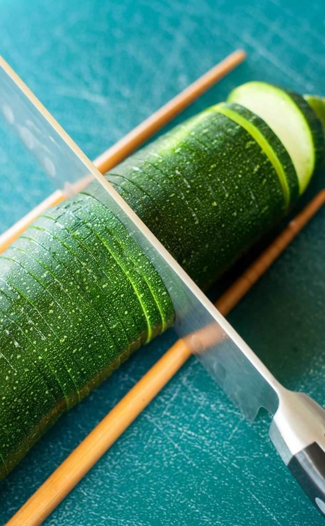Hasselback Sliced Zucchini