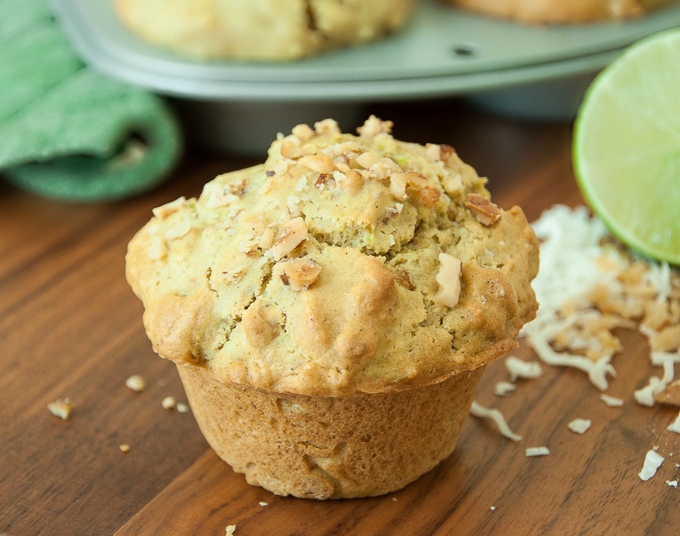 Coconut Lime Avocado Muffins: these bakery-style muffins are fluffy and flavorful!