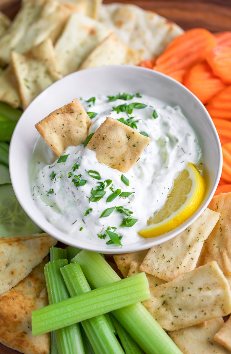 Tzatziki Dip with Pita Chips