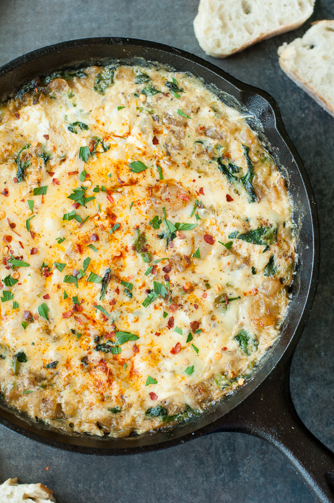 Hot crab dip with a twist! :: Cheesy Baked Seafood Dip with Crab, Shrimp, and Veggies!