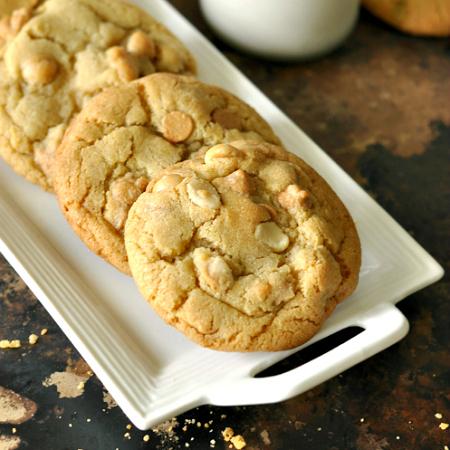 Peanut Butter Macadamia Nut White Chocolate Cookies