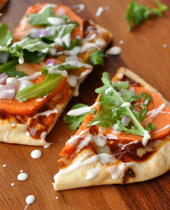 Barbecue Ranch Savory Sweet Potato Pizza