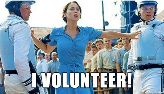 I volunteer!