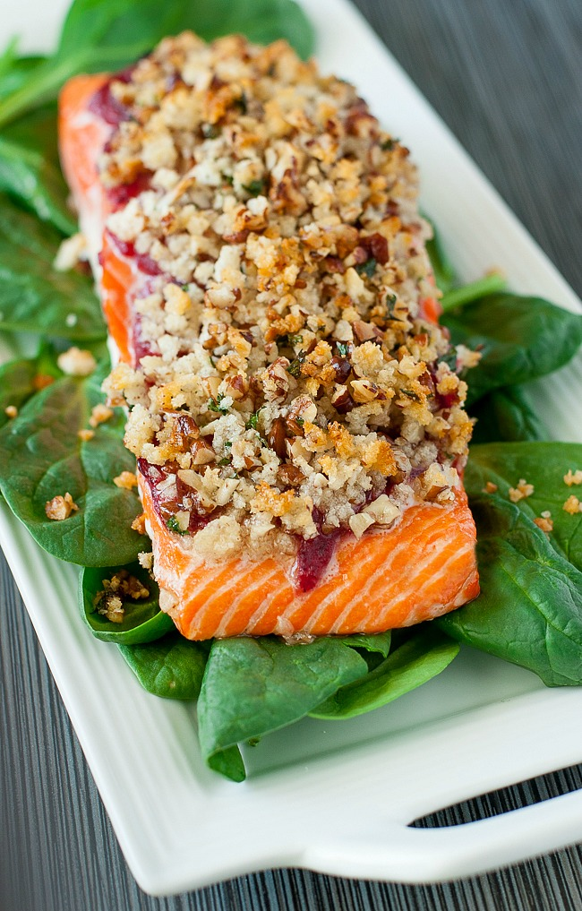 recipe: pecan crusted baked salmon [30]..