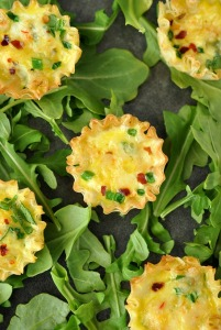 Mini Phyllo Quiche Cups