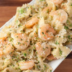 Creamy Cajun Shrimp and Broccoli Pasta