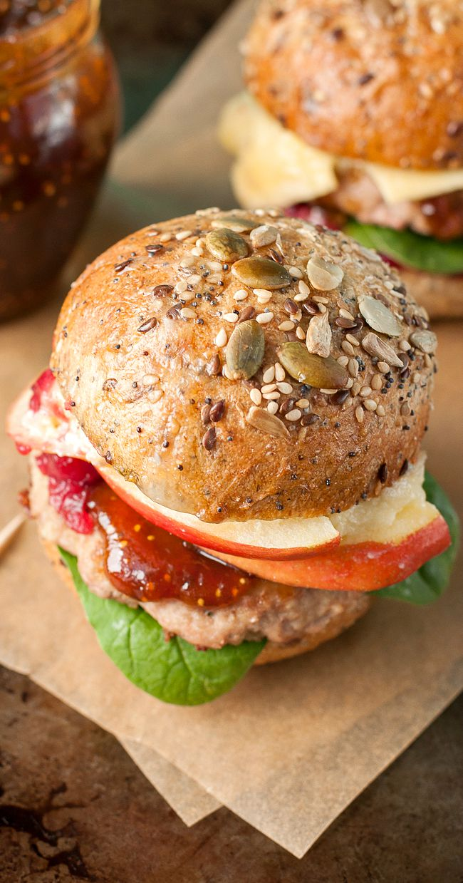 Apple Berry + Brie Burger Recipe!