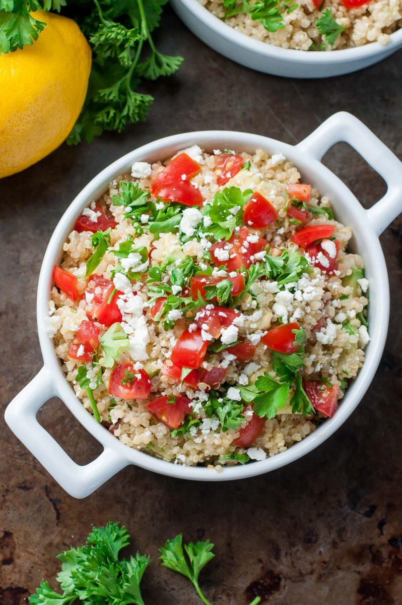 Avoado Feta Quinoa Salad Recipe
