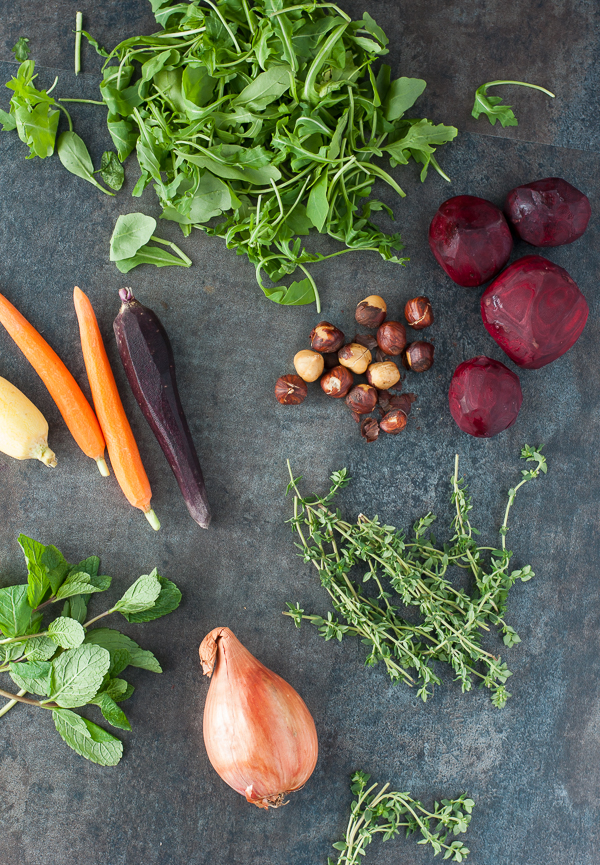 Blue Apron Meals Fresh Produce: Beet, Heirloom Carrot and Hazelnut Salad