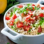 Healthy Tomato Avocado Quinoa Salad with Feta