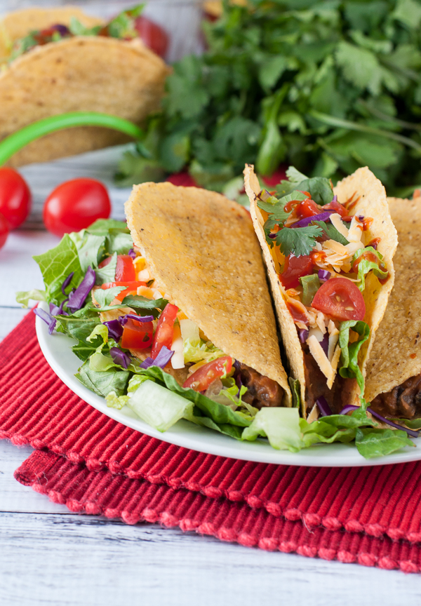 Vegetarian Triple Bean Tacos