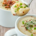 Pesto Loaded Baked Potato Soup
