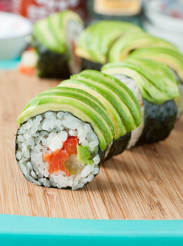 Homemade Sushi: Avocado Roll