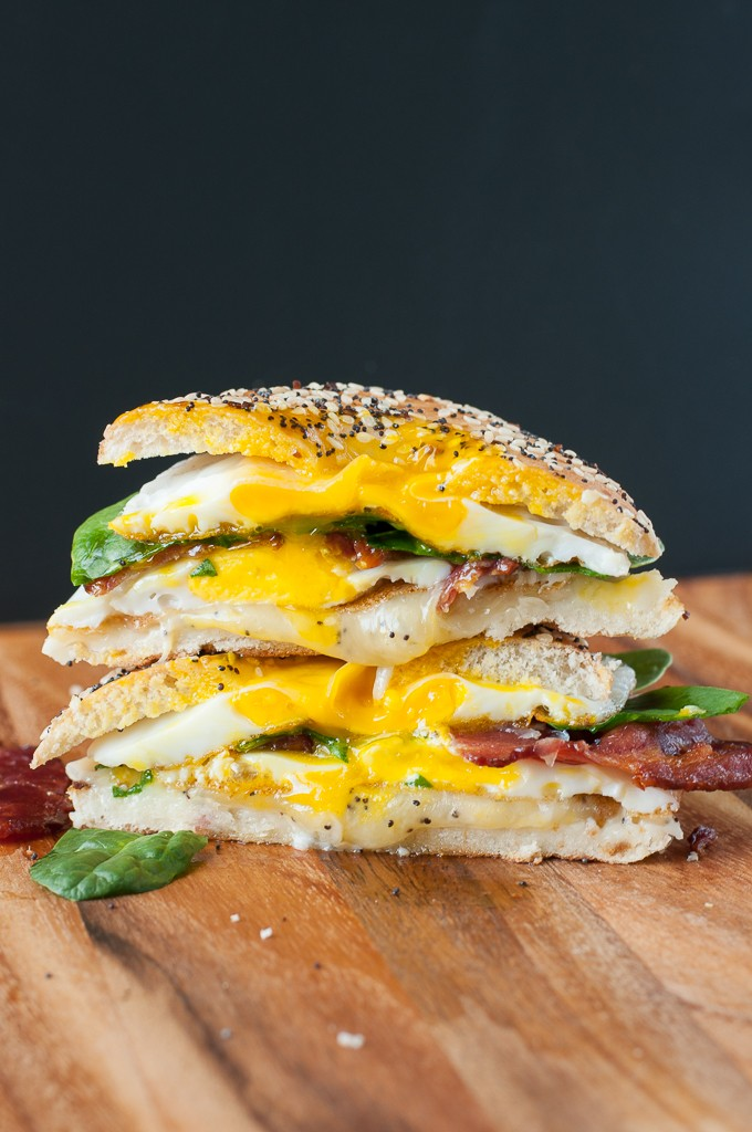 Everything Bagel Grilled Cheese Breakfast Sandwich + What I Ate Wednesday