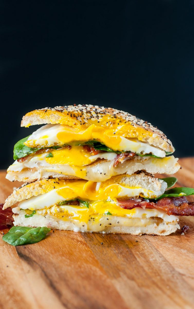 Everything Bagel Breakfast Sandwich