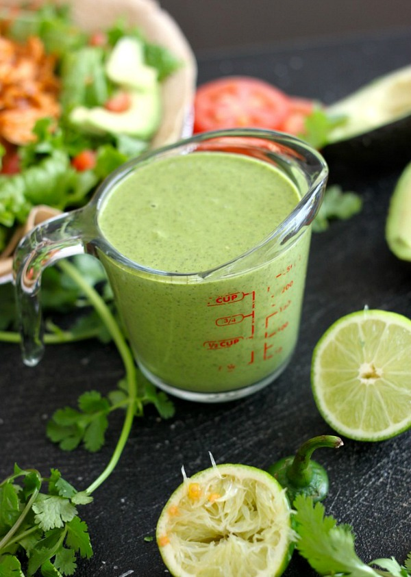 28 Quick and Easy Homemade Salad Dressing Recipes :: Copycat Cafe Rio Creamy Cilantro Dressing