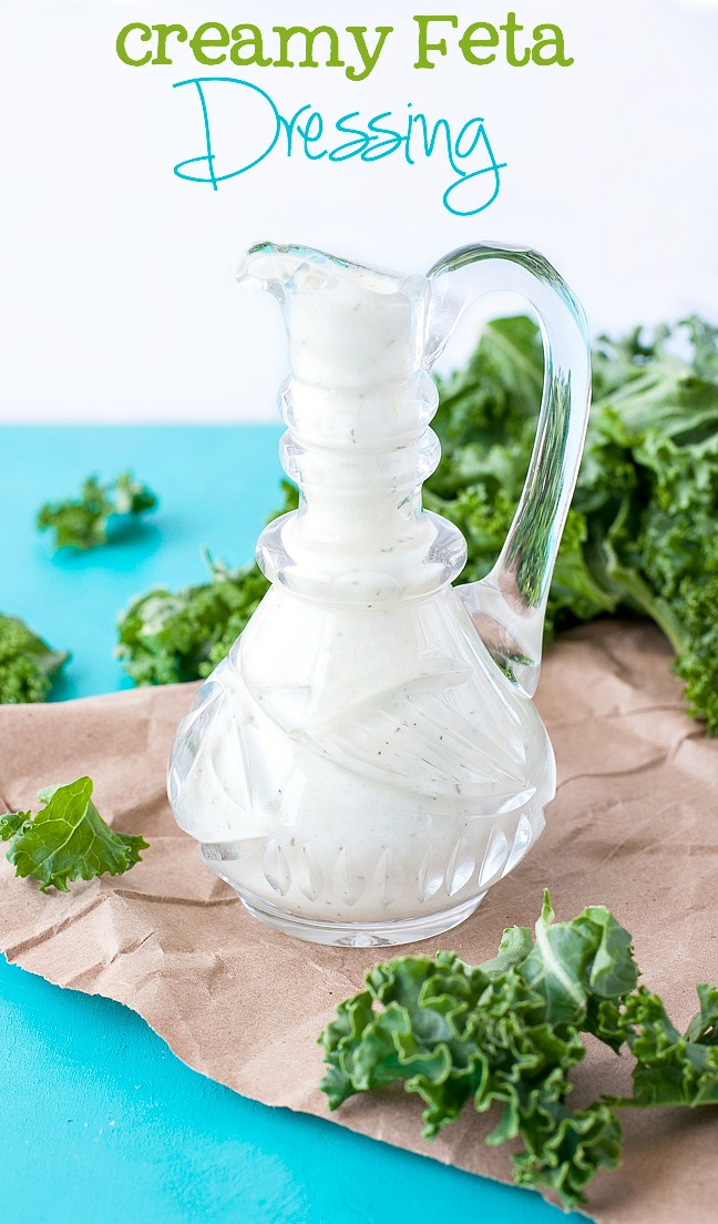 The creamiest feta dressing EVER! :: Would you believe me if I said I loved it more than Ranch!? SO GOOD!