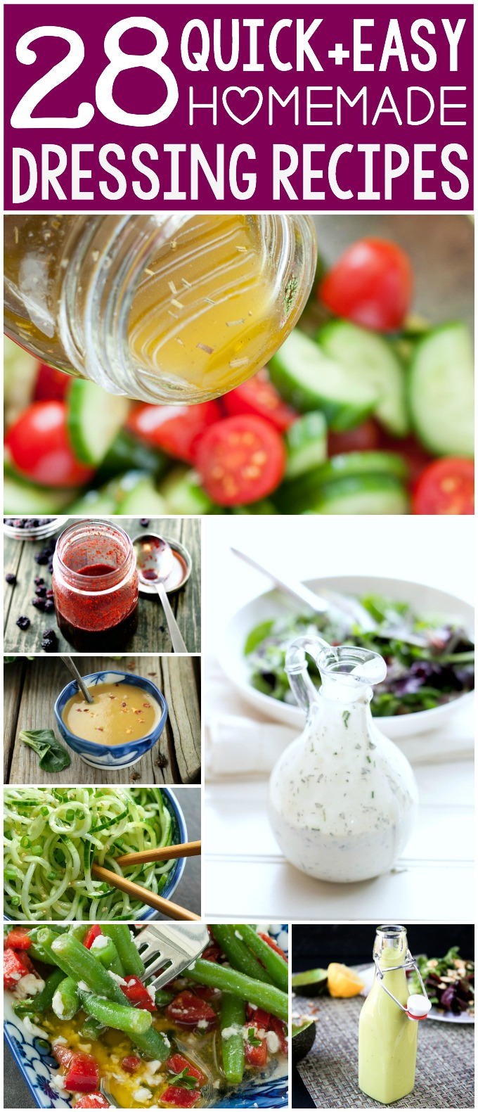 28 Quick and Easy Homemade Salad Dressing Recipes