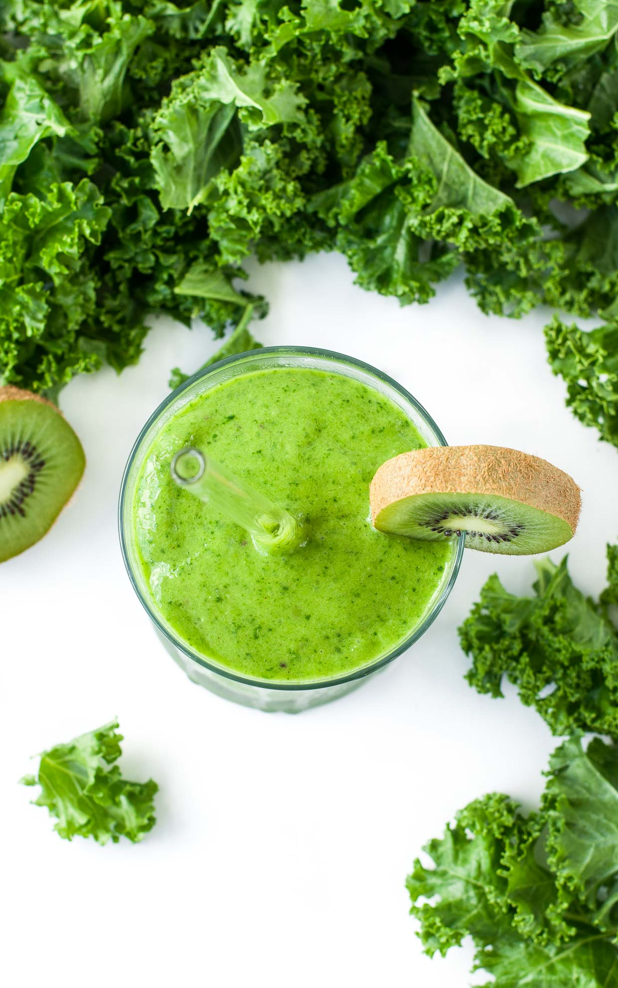 Shake up your smoothie routine with this gorgeous green smoothie. Boasting 2 cups of kale, this Tropical Mango Kale Smoothie is nutrient-packed and full of tasty tropical flavor!