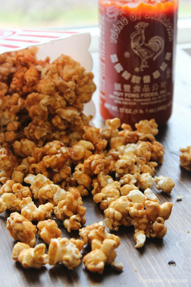36 Recipes to Fuel Your Sriracha Obsession :: Sriracha Popcorn