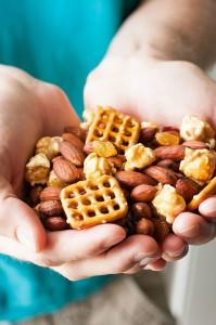 Homemade Trail Mix :: Pretzels, Caramel Corn, and Almonds... oh my!
