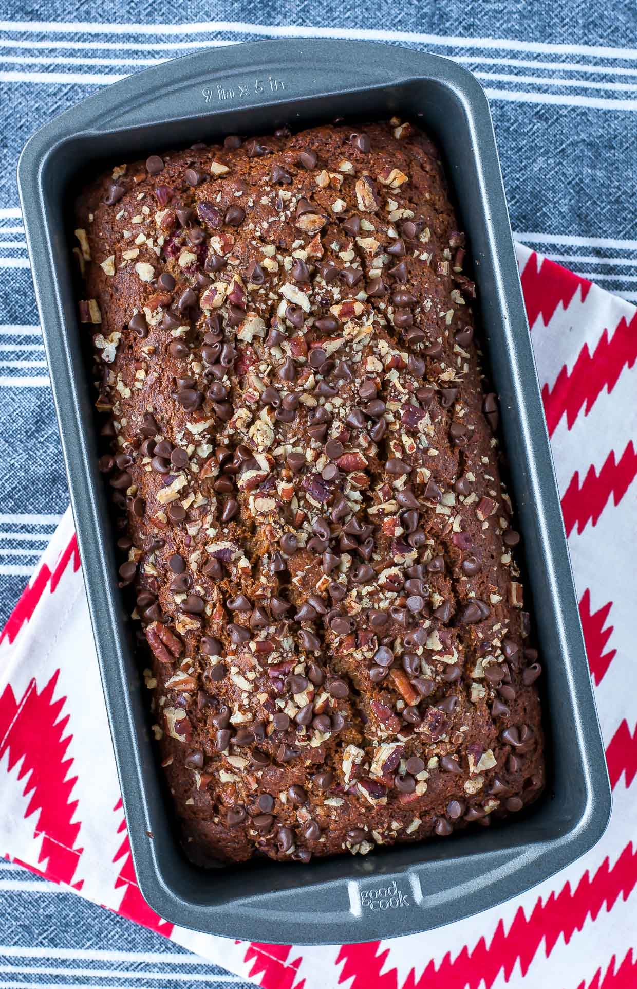 Crazy delicious Banana Split Banana Bread