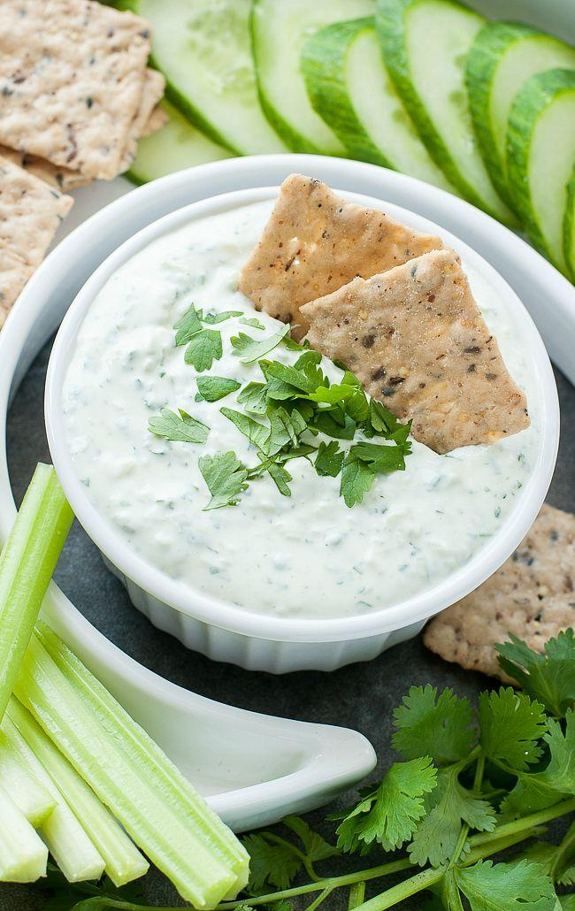 Creamy Cilantro Cucumber Dip