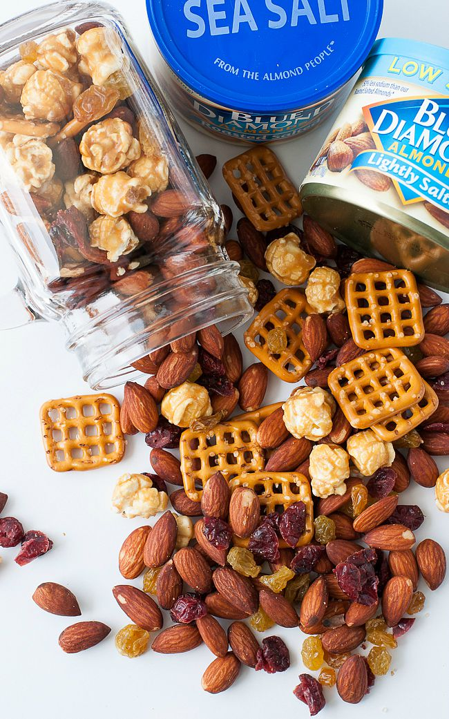 Sweet + Salty Homemade Trail Mix :: Almonds, Pretzels, and Caramel Corn... oh my!