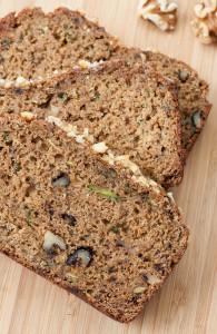 Whole Grain Fluffy Flax Zucchini Bread