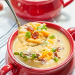 Slow Cooker Sweet Potato Cauliflower Soup