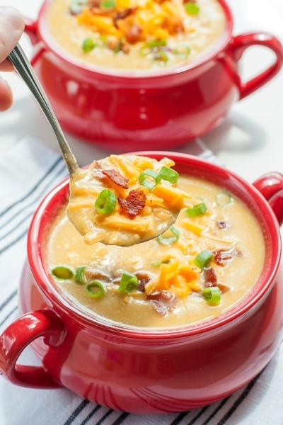 Slow Cooker Sweet Potato Cauliflower Soup