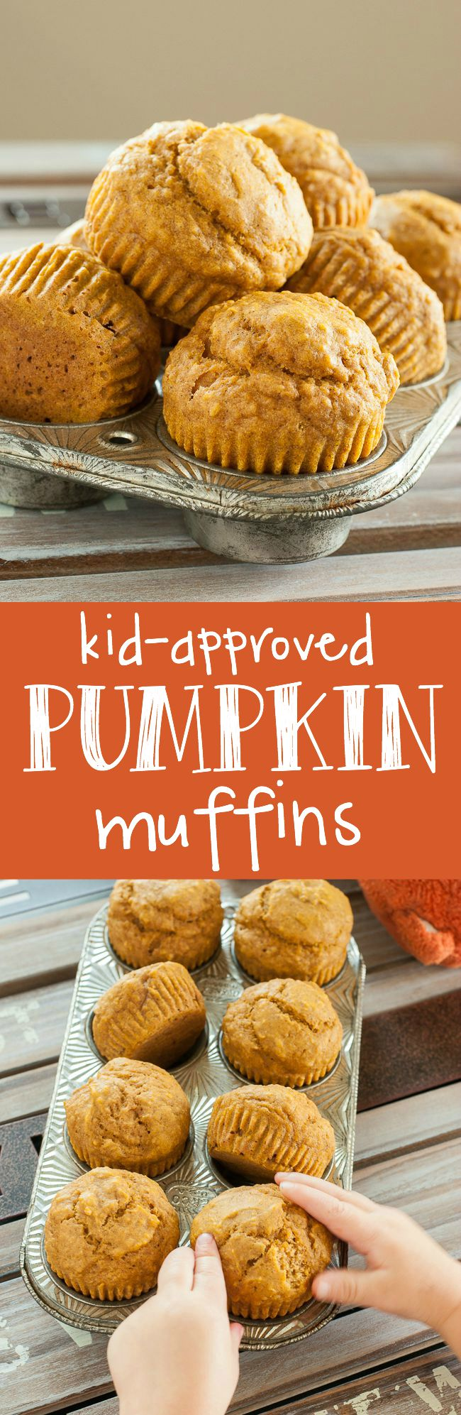 Kid-Friendly Pumkpin Muffins :: we LOVE these naturally sweet muffins!