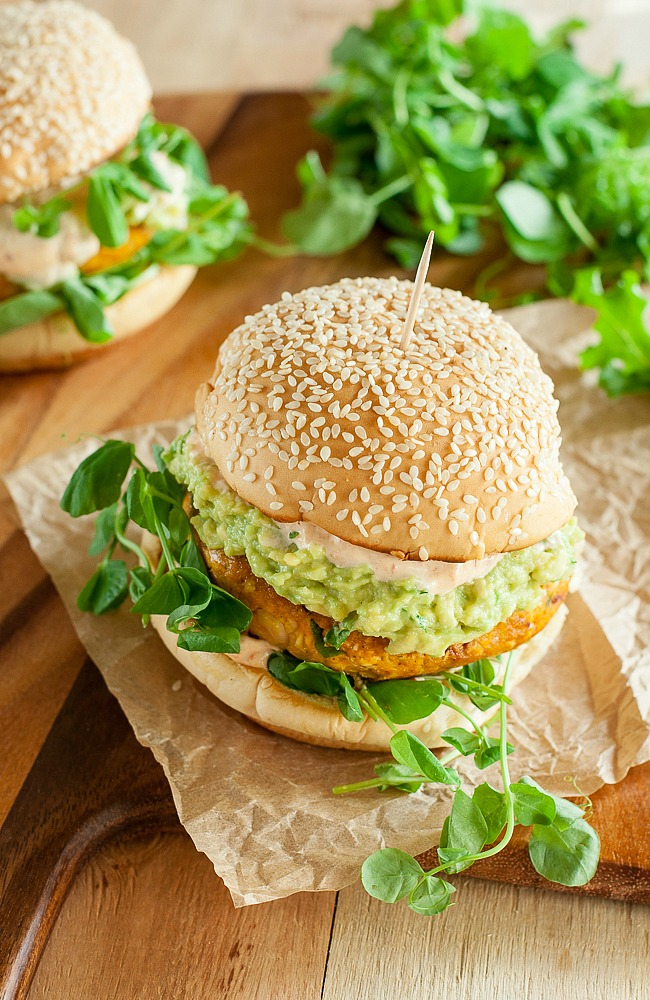 Chipotle Pumpkin Veggie Burgers