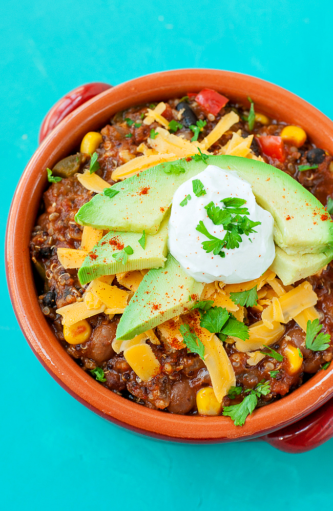 Vegetarian Quinoa Chili Recipe — Dishmaps