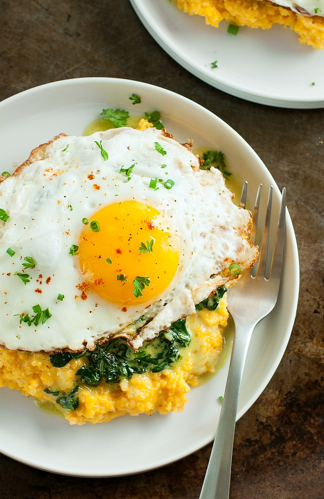 Brown Butter Pumpkin Grits Breakfast Bowls