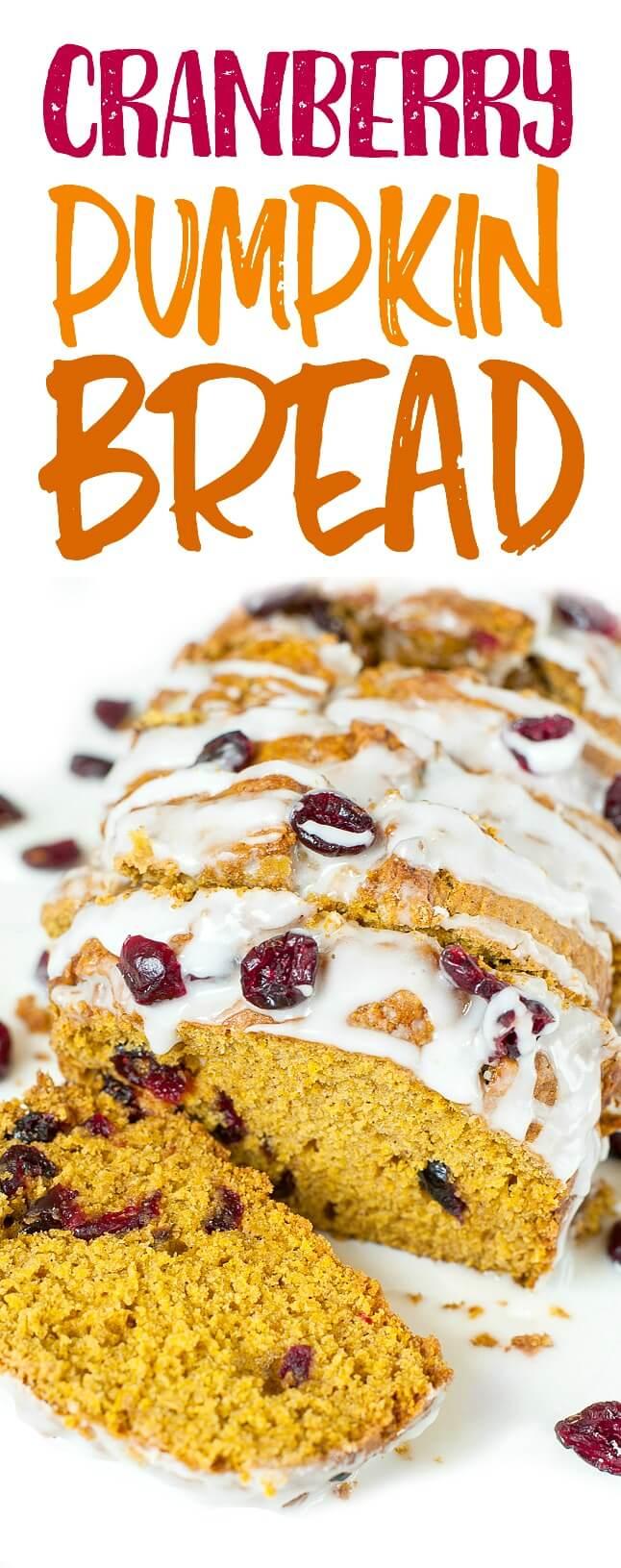 Cranberry-Orange Pumpkin Bread: pumpkin-spiced pumpkin bread with a cranberry bliss twist!