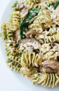 Roasted Garlic Kale Pesto and Veggie Pasta