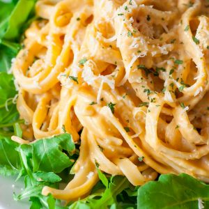 This quick and easy Sweet Potato Alfredo is a tasty twist on a comfort food classic!